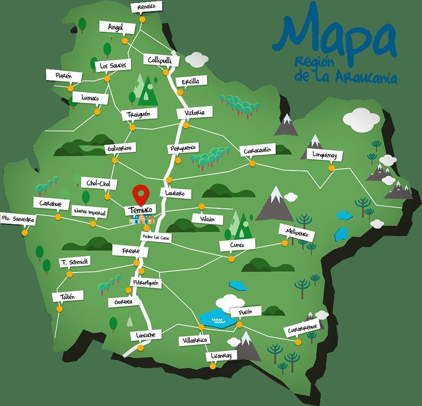 mapa perquenco