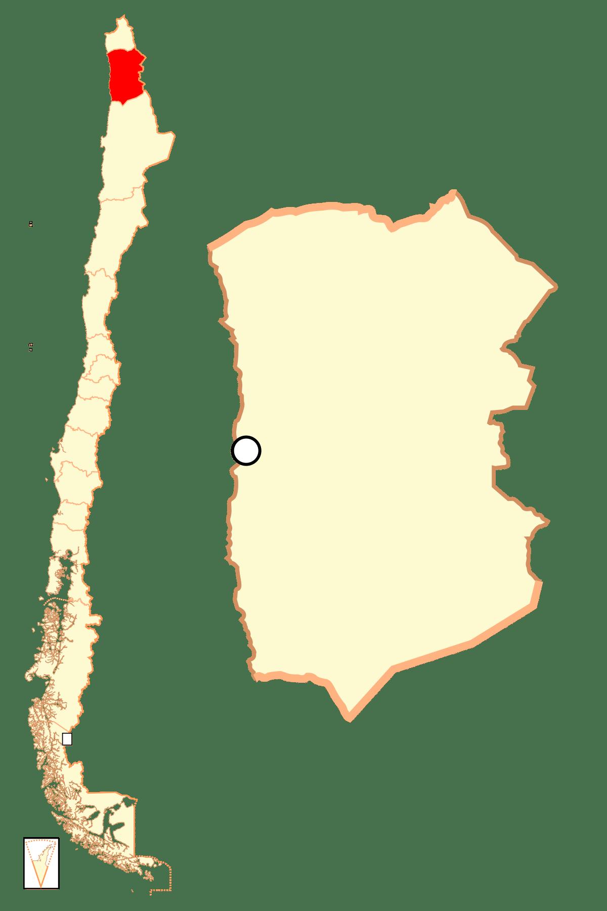 La región de Tarapacá-mapa