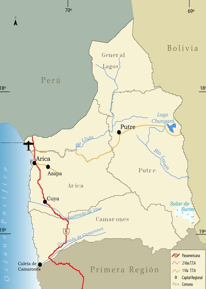 region de arica y parinacota-mapa
