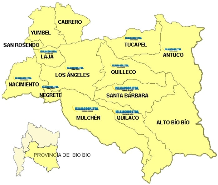 mapa quilleco