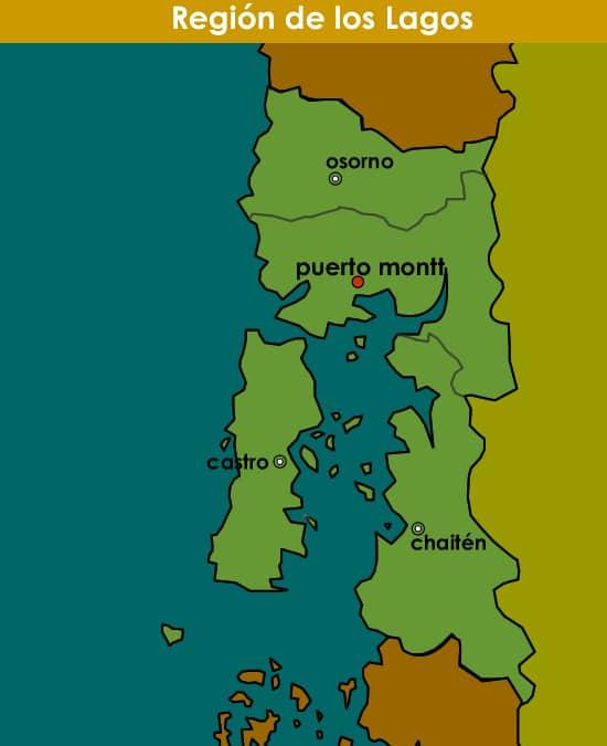 dónde queda la región de los lagos