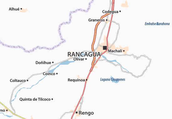 Mapa de Requinoa Chile